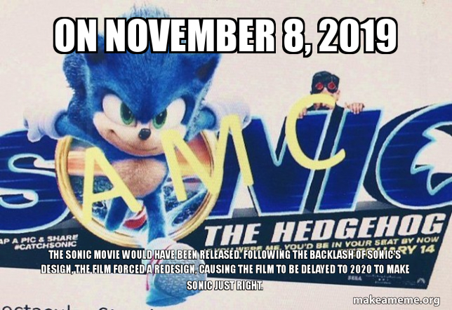 sonic the hedgehog 2019 meme