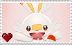 Pokemon Sword and Shield - Scorbunny Stamp