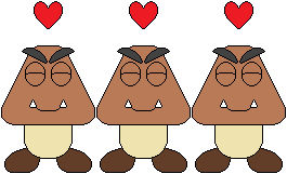 Super Mario - Goombas show their love and care