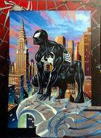 Black Spider-man by LOGANNINEFINGERS