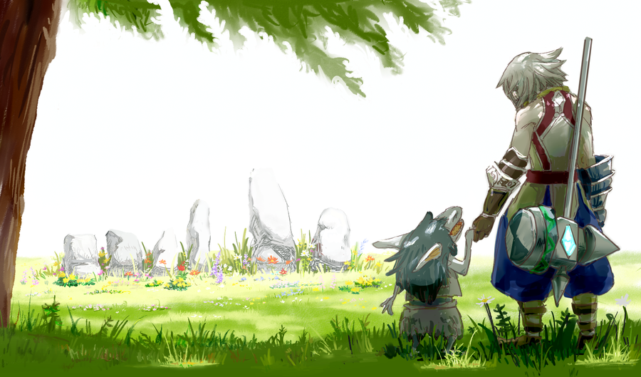 Visiting a grave by Chihiro-Chietam