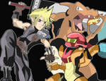 Cloud in Super Smash Bros 4!! by RamyunKing