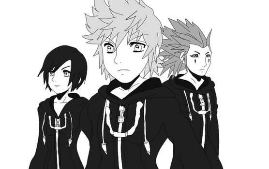Kingdom Hearts 358/2 days: Roxas, Axel and Xion