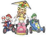 Mario Kart 8: Bowser, Peach, Mario and Luigi
