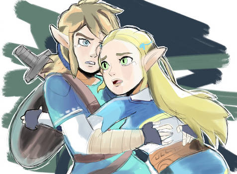 Link and Zelda Breath of the Wild