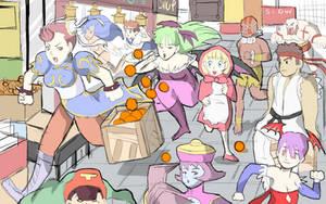Street Fighter VS Darkstalkers by Retro-Robosan