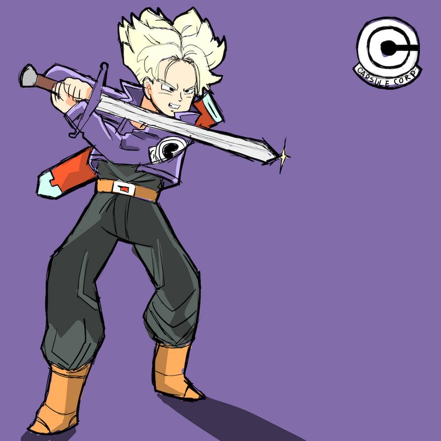 Super Saiyan - Future Trunks - Sketch by AlSanya