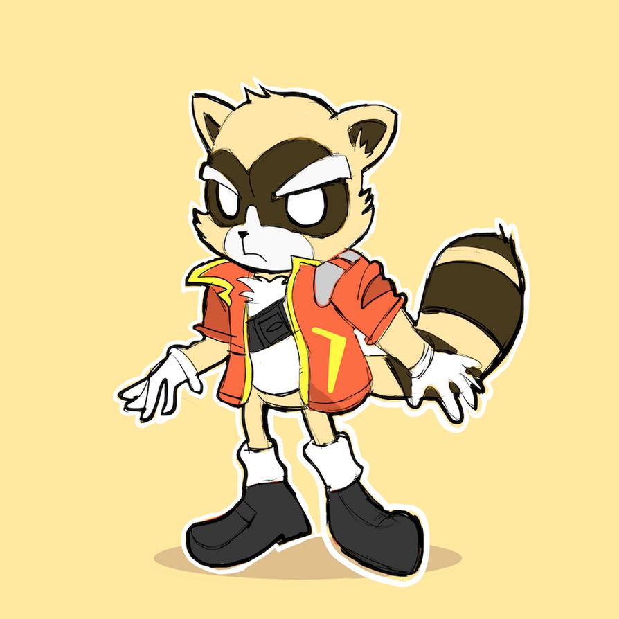 Raccoon - Red Jacket by AlSanya