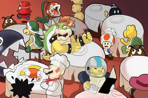 Restaurant - Super Mario Odyssey by RamyunKing