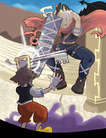 Kingdom Hearts: Cloud vs Sora by RamyunKing