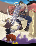 Kingdom Hearts: Cloud vs Sora
