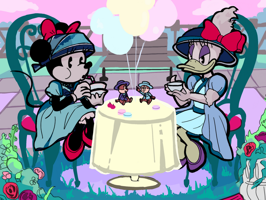 DisneyLand: Minnie Mouse and Daisy Duck - TeaParty