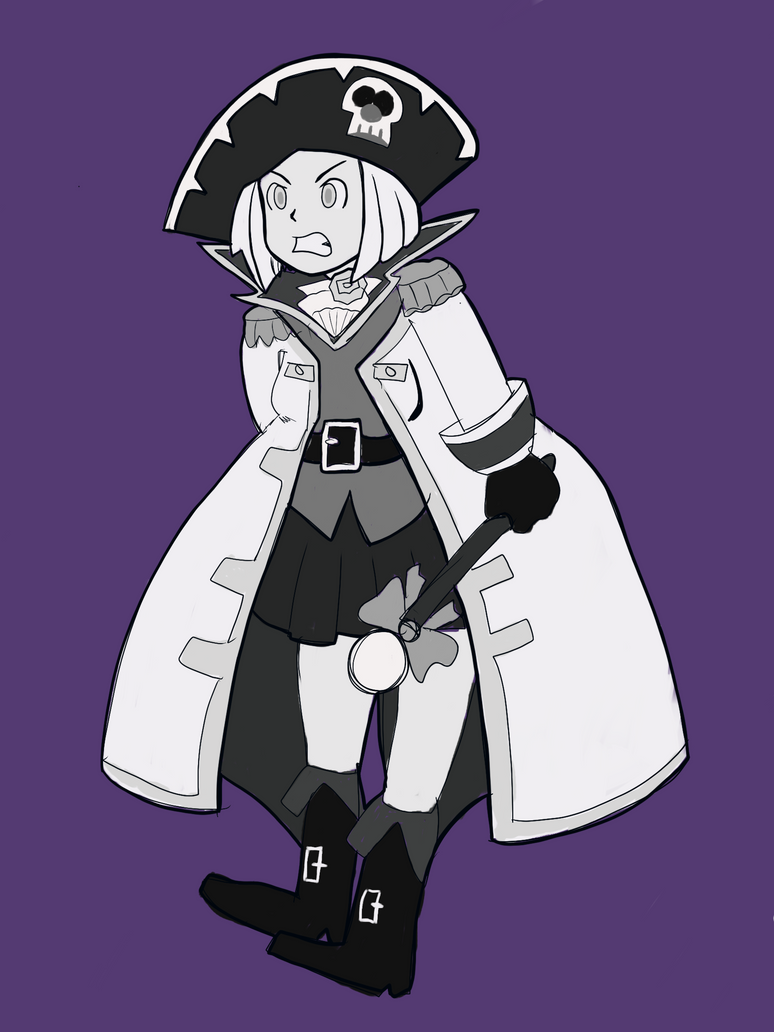 inktober Day 3: Captain Rose - Annoyed! by RamyunKing