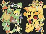 Smash Bros Ultimate: Yellow Team vs Green Team