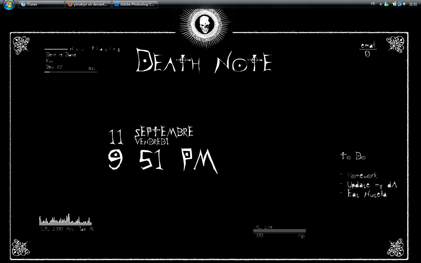 Death Note style