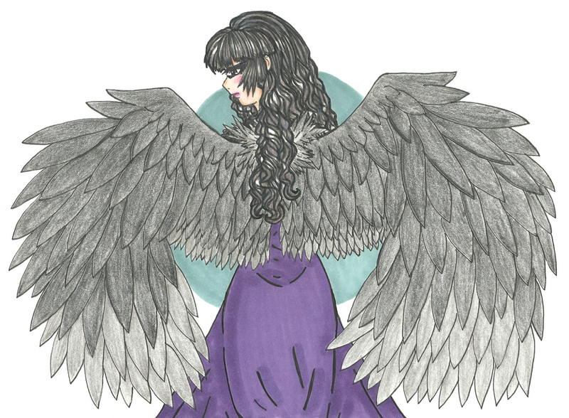 Inktober #2: Wings by shy-orchid-ghost