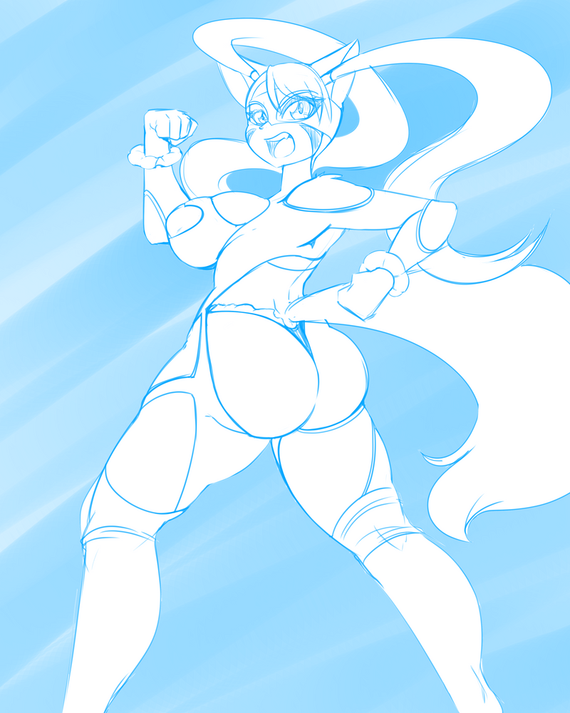 #23 R Mika (Street Fighter) by DesertFoxKatbox