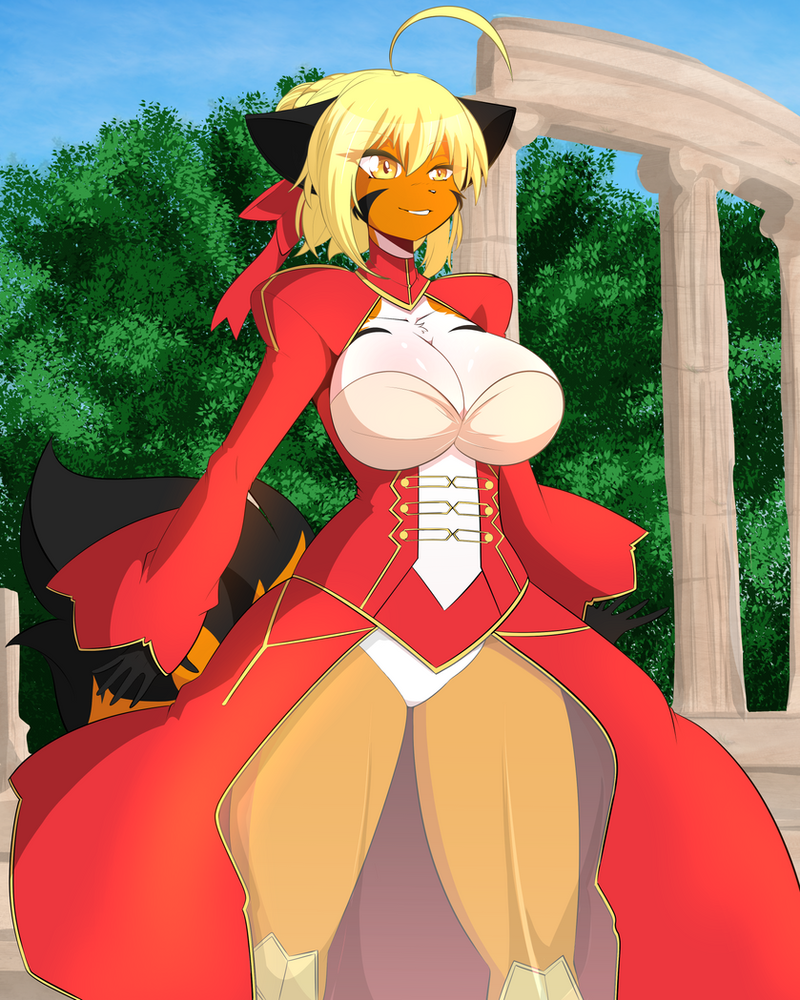 #29 Red Saber (FateExtra) FUNDED! by DesertFoxKatbox