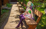 Fire Emblem fantasy cosplay - Nowi the Manakete