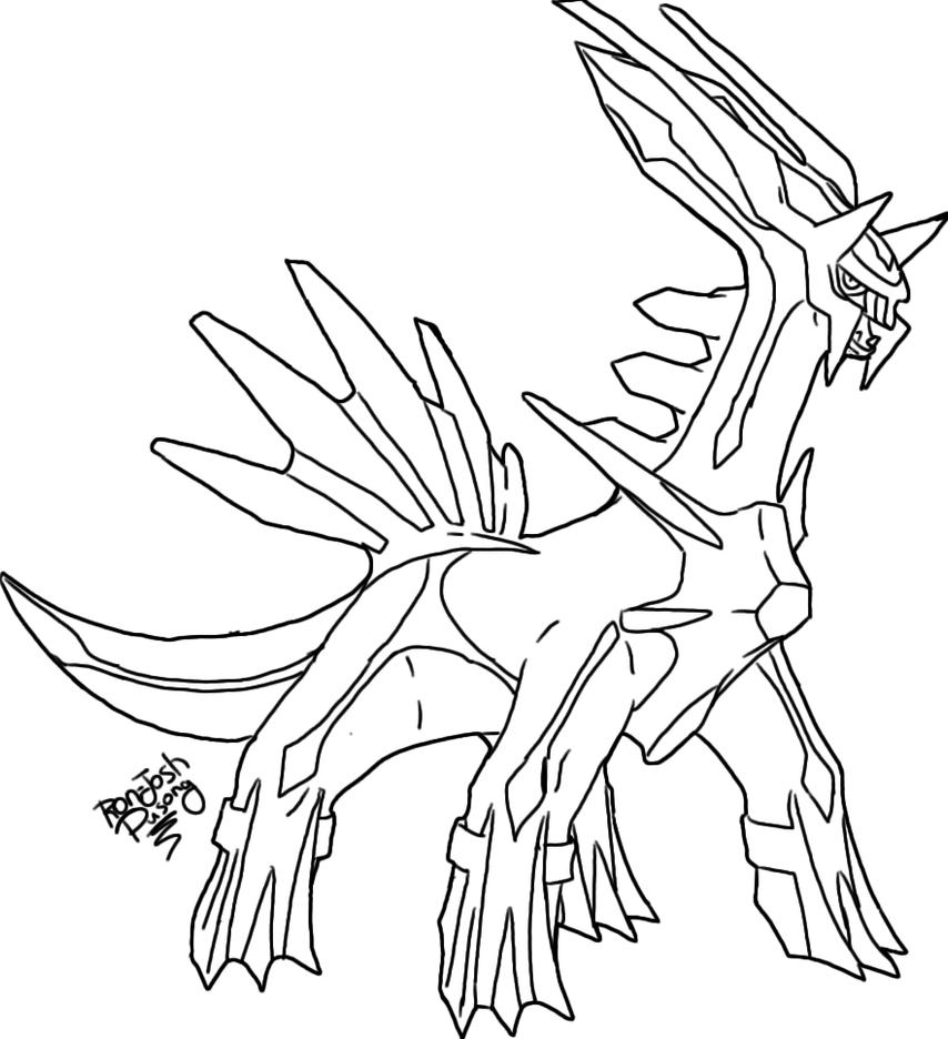 Pokemon Pearl Palkia Coloring Pages