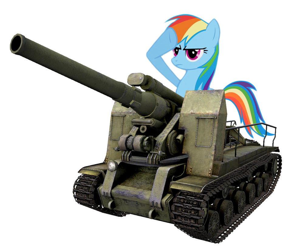 rainbow dash with soviet s 51 203mm howitzer wot by rogerdaily on deviantart. Black Bedroom Furniture Sets. Home Design Ideas