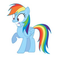 Surprised Rainbow Dash by RogerDaily