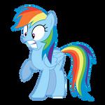Surprised Rainbow Dash
