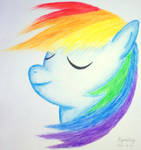 Dashie in the Wind (Watercolor Pencils)
