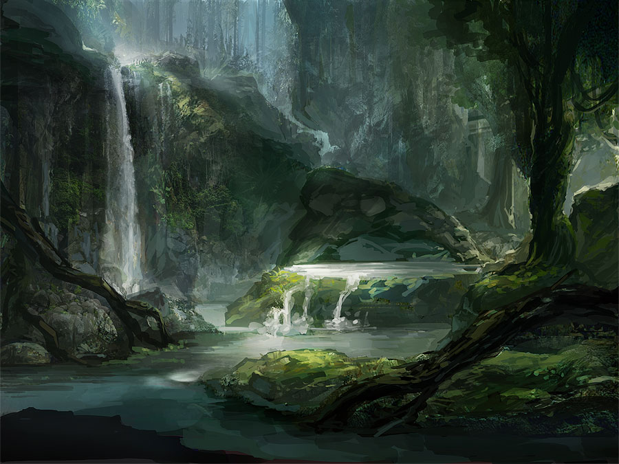 WIP Forest Concept by allisonchinart