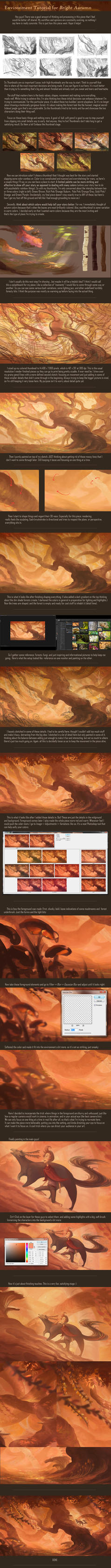 Environment Tutorial: Bright Autumn by allisonchinart