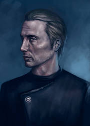 Mads Mikkelsen by InsomniaTSO