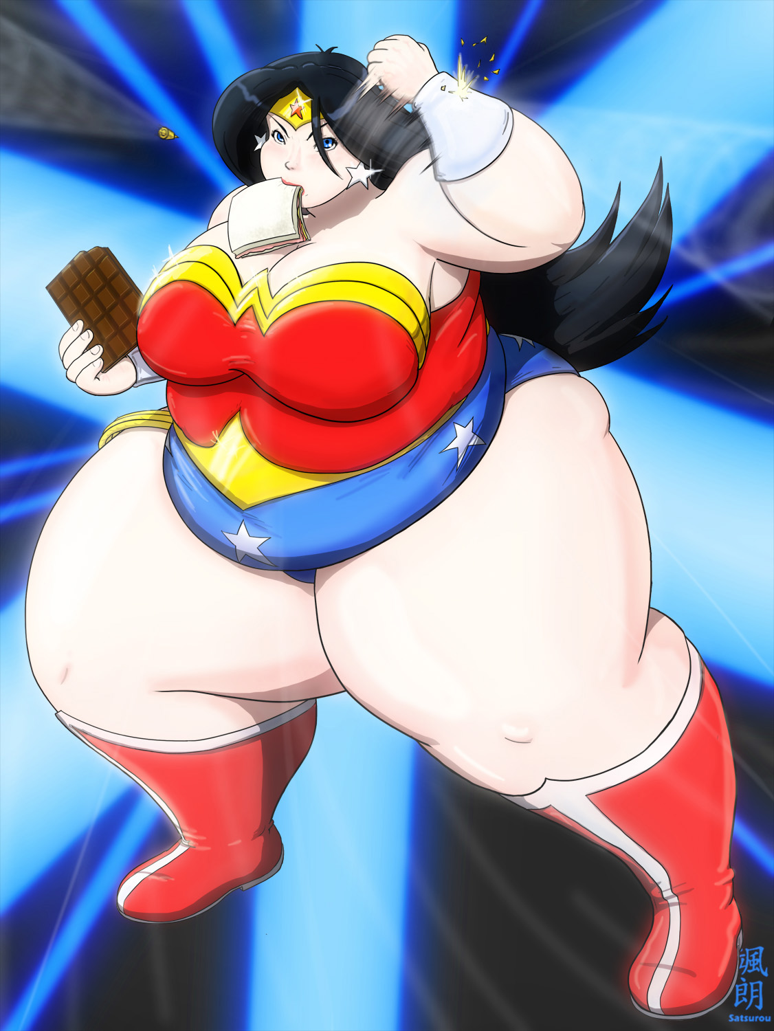 Fat Wonder Woman by Satsurou