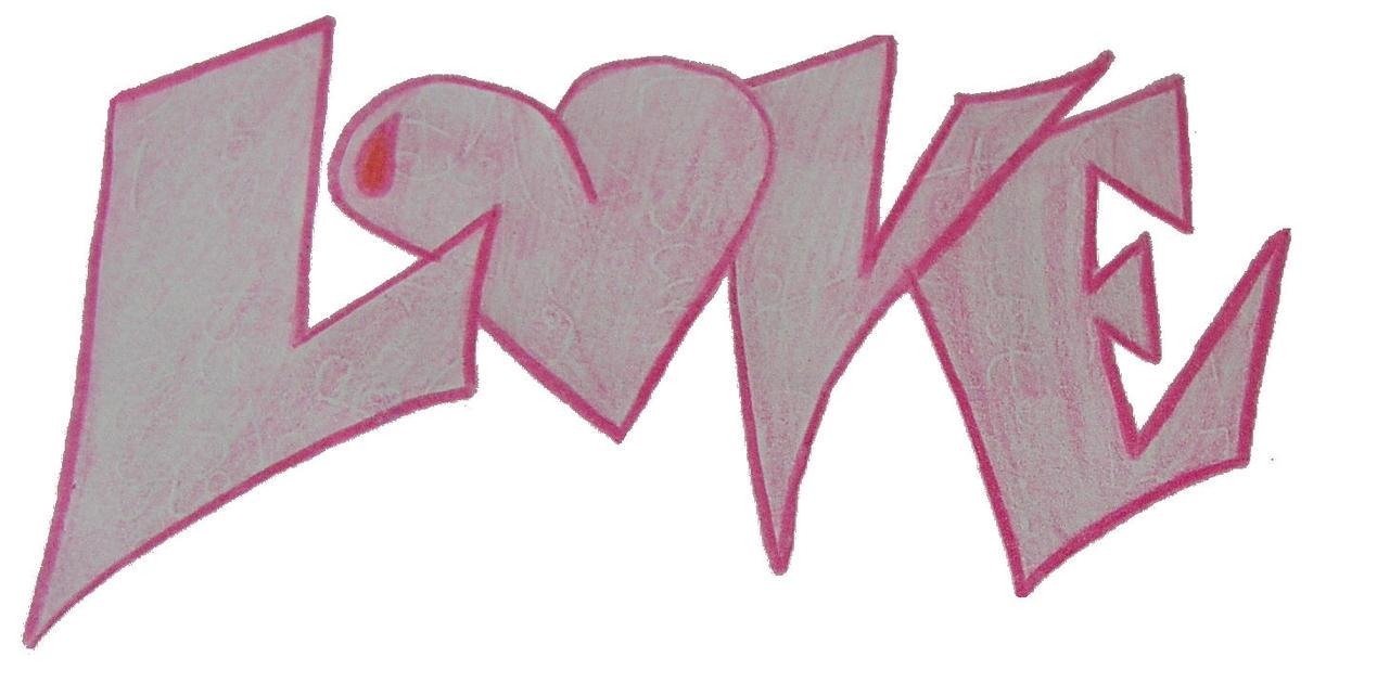 Graffiti style writing love by NumbAngelLove Graffiti Images