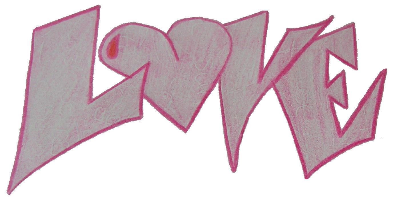 Graffiti style writing love by NumbAngel on DeviantArt