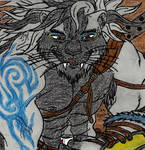 Misterious white lion by Abyss-Of-Pain