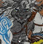 Misterious white lion by RiumajiInu