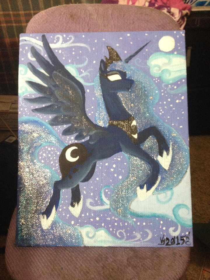 Princess Luna Sewing Cabinet ( PAINTING COMPLETED) by Mistress-of-Nochs