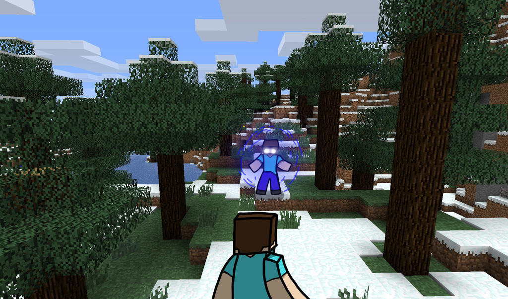 Minecraft Herobrine Vs Steve Steve vs herobrine by