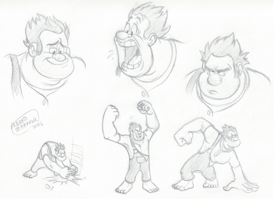Wreck-It Ralph Doodles by SharpDressedReptile