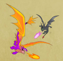 Toothless and Spyro, SWAPPED