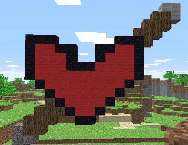 valentine's Day Minecraft Art