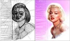 Marilyn Monroe Vector CS5 - Wireframe by Atebitninja