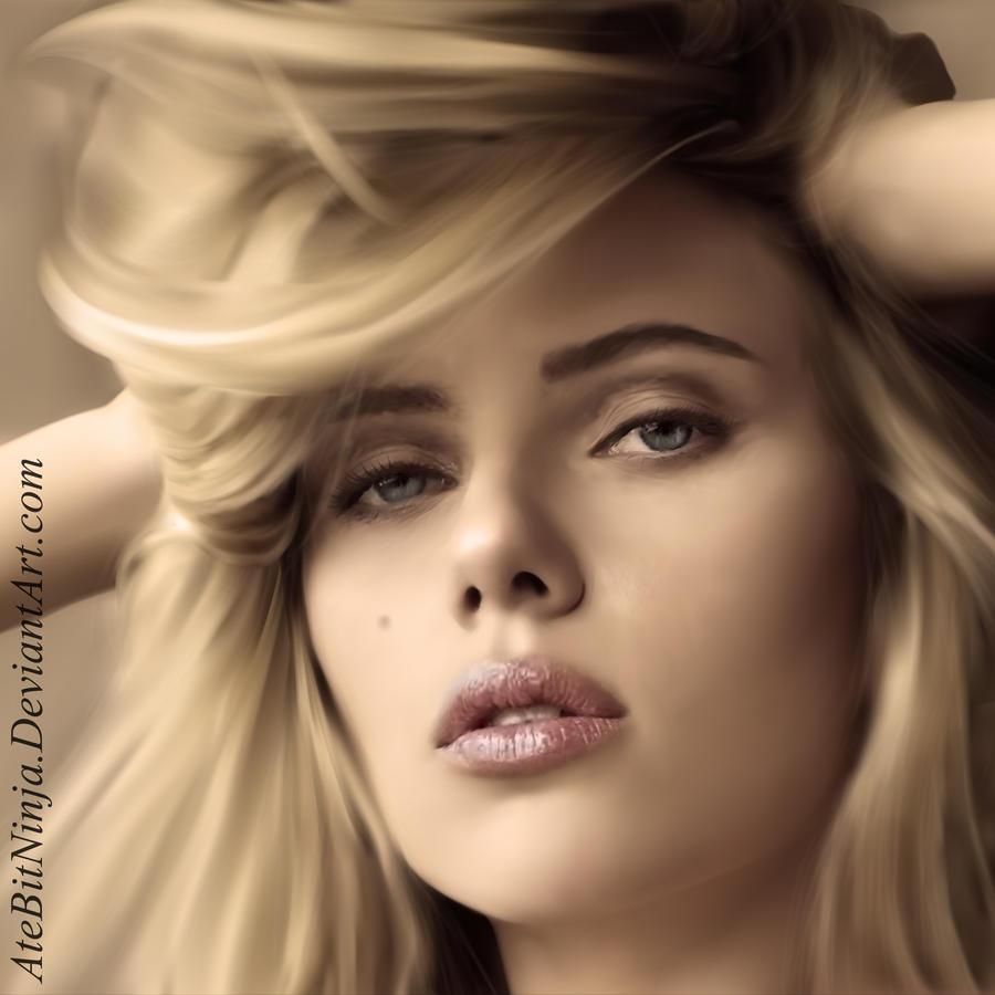 Scarlett Johansson - Vector by Atebitninja