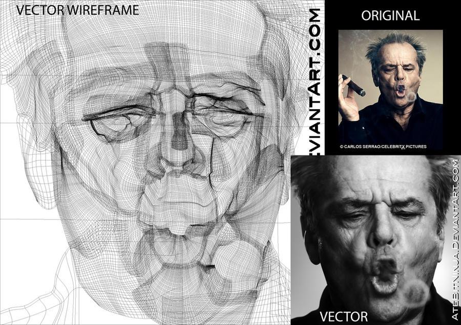 Jack Nicholson Vector Wireframe by Atebitninja on DeviantArt