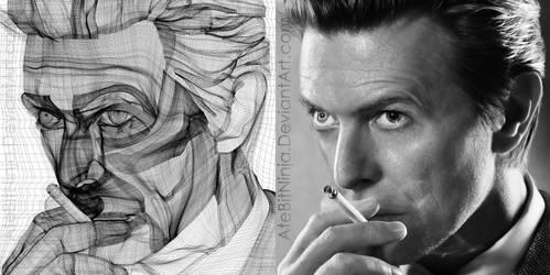 David Bowie - Vector Wireframe by Atebitninja