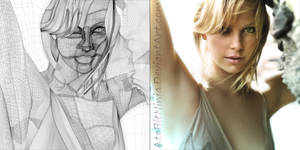 Charlize Theron - Vector WIreframe by Atebitninja