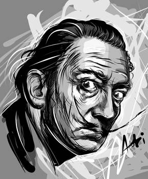 Salvador Dali - Adobe Ideas Vector