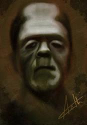 Frankenstein sketch - iPad digital painting