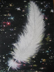 Angel Feather in the night