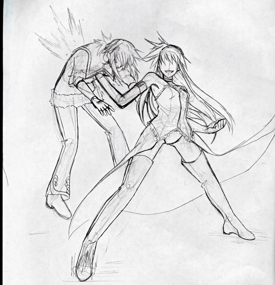OC Xei vs Hazuki by Tsuki-44